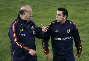 Xavi y Del Bosque