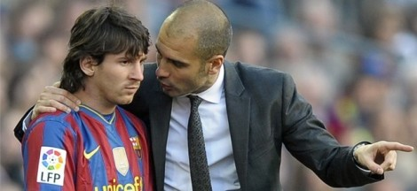 Guardiola con Messi